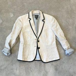 J. Crew Linen Schoolboy Blazer Size 8